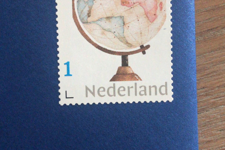 hello world postzegel