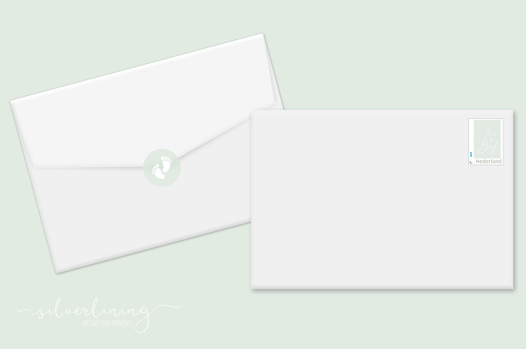 Envelope sluitzegel postzegel