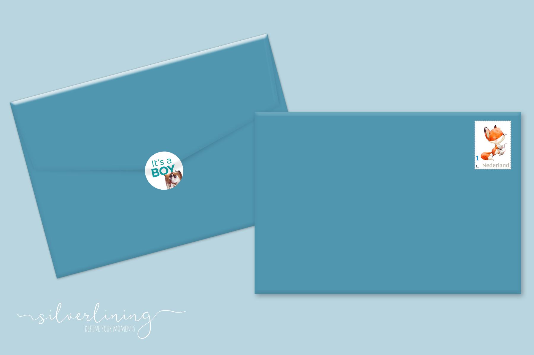 Envelope sluitzegel postzegel Ole